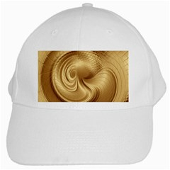 Gold Background Texture Pattern White Cap by Simbadda