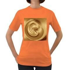 Gold Background Texture Pattern Women s Dark T Shirt by Simbadda