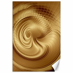 Gold Background Texture Pattern Canvas 12  X 18   by Simbadda
