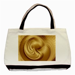 Gold Background Texture Pattern Basic Tote Bag (two Sides) by Simbadda