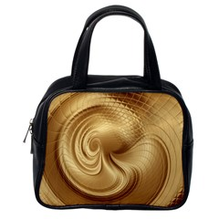 Gold Background Texture Pattern Classic Handbags (one Side) by Simbadda