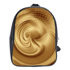 Gold Background Texture Pattern School Bags(large)  by Simbadda