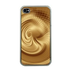 Gold Background Texture Pattern Apple Iphone 4 Case (clear) by Simbadda