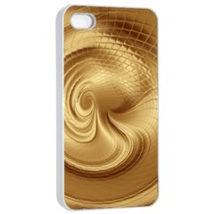 Gold Background Texture Pattern Apple Iphone 4/4s Seamless Case (white) by Simbadda