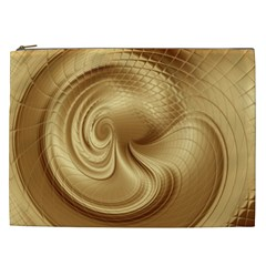 Gold Background Texture Pattern Cosmetic Bag (xxl)  by Simbadda