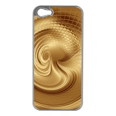 Gold Background Texture Pattern Apple Iphone 5 Case (silver) by Simbadda