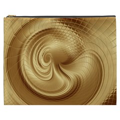 Gold Background Texture Pattern Cosmetic Bag (xxxl)  by Simbadda