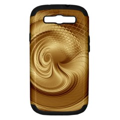 Gold Background Texture Pattern Samsung Galaxy S Iii Hardshell Case (pc+silicone) by Simbadda