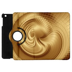 Gold Background Texture Pattern Apple Ipad Mini Flip 360 Case by Simbadda