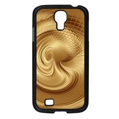 Gold Background Texture Pattern Samsung Galaxy S4 I9500/ I9505 Case (black) by Simbadda