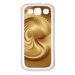 Gold Background Texture Pattern Samsung Galaxy S3 Back Case (white) by Simbadda