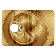 Gold Background Texture Pattern Kindle Fire Hdx Flip 360 Case by Simbadda