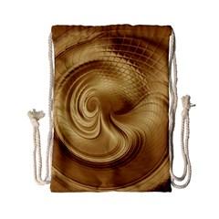 Gold Background Texture Pattern Drawstring Bag (small) by Simbadda