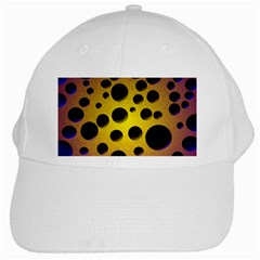 Background Design Random Balls White Cap by Simbadda