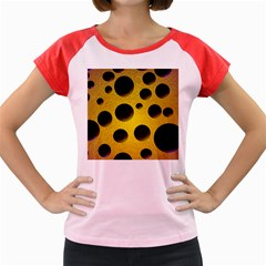 Background Design Random Balls Women s Cap Sleeve T Shirt by Simbadda