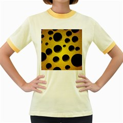 Background Design Random Balls Women s Fitted Ringer T Shirts by Simbadda