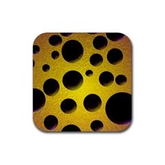 Background Design Random Balls Rubber Square Coaster (4 Pack)  by Simbadda