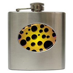 Background Design Random Balls Hip Flask (6 Oz) by Simbadda