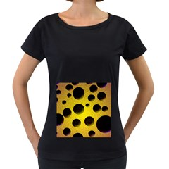Background Design Random Balls Women s Loose Fit T Shirt (black) by Simbadda