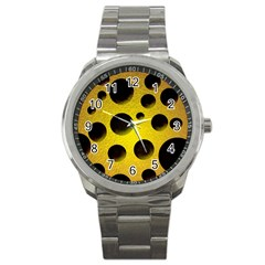 Background Design Random Balls Sport Metal Watch by Simbadda