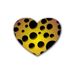 Background Design Random Balls Rubber Coaster (heart)  by Simbadda