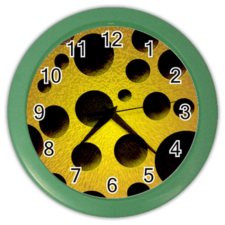 Background Design Random Balls Color Wall Clocks