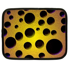 Background Design Random Balls Netbook Case (large) by Simbadda