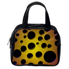 Background Design Random Balls Classic Handbags (one Side) by Simbadda