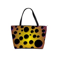 Background Design Random Balls Shoulder Handbags by Simbadda