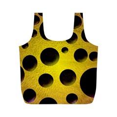 Background Design Random Balls Full Print Recycle Bags (m)  by Simbadda