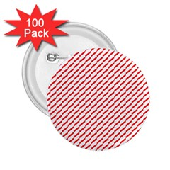 Pattern Red White Background 2 25  Buttons (100 Pack)  by Simbadda