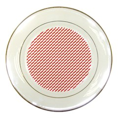 Pattern Red White Background Porcelain Plates by Simbadda