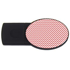 Pattern Red White Background Usb Flash Drive Oval (4 Gb) by Simbadda