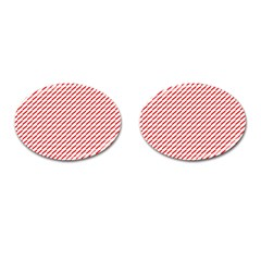 Pattern Red White Background Cufflinks (oval) by Simbadda