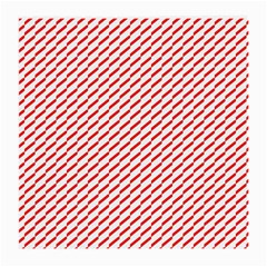 Pattern Red White Background Medium Glasses Cloth (2 Side) by Simbadda