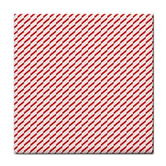 Pattern Red White Background Face Towel by Simbadda