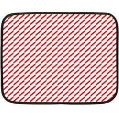 Pattern Red White Background Double Sided Fleece Blanket (mini)