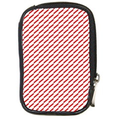 Pattern Red White Background Compact Camera Cases by Simbadda