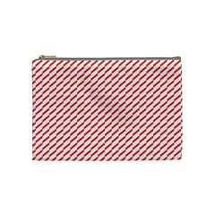 Pattern Red White Background Cosmetic Bag (medium)  by Simbadda
