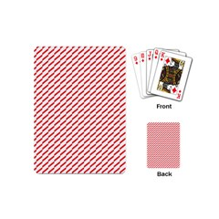 Pattern Red White Background Playing Cards (mini)  by Simbadda