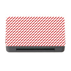 Pattern Red White Background Memory Card Reader With Cf by Simbadda