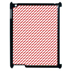 Pattern Red White Background Apple Ipad 2 Case (black) by Simbadda