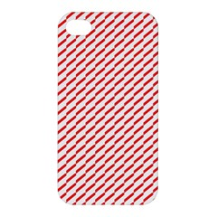 Pattern Red White Background Apple Iphone 4/4s Hardshell Case by Simbadda