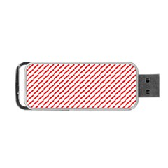 Pattern Red White Background Portable Usb Flash (two Sides) by Simbadda