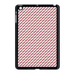 Pattern Red White Background Apple Ipad Mini Case (black) by Simbadda