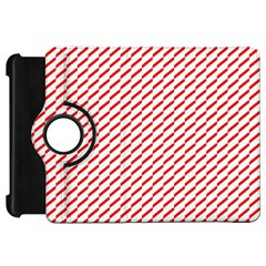 Pattern Red White Background Kindle Fire Hd 7  by Simbadda