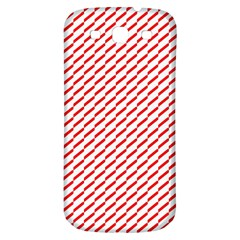 Pattern Red White Background Samsung Galaxy S3 S Iii Classic Hardshell Back Case by Simbadda