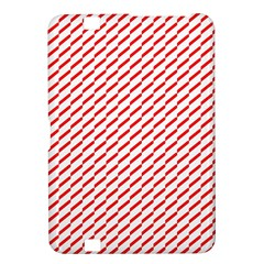 Pattern Red White Background Kindle Fire Hd 8 9  by Simbadda
