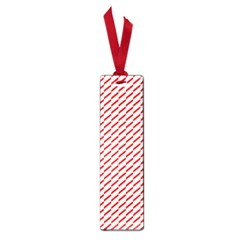 Pattern Red White Background Small Book Marks by Simbadda