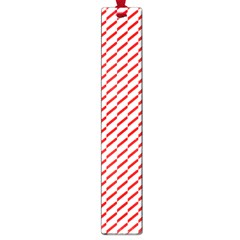 Pattern Red White Background Large Book Marks by Simbadda